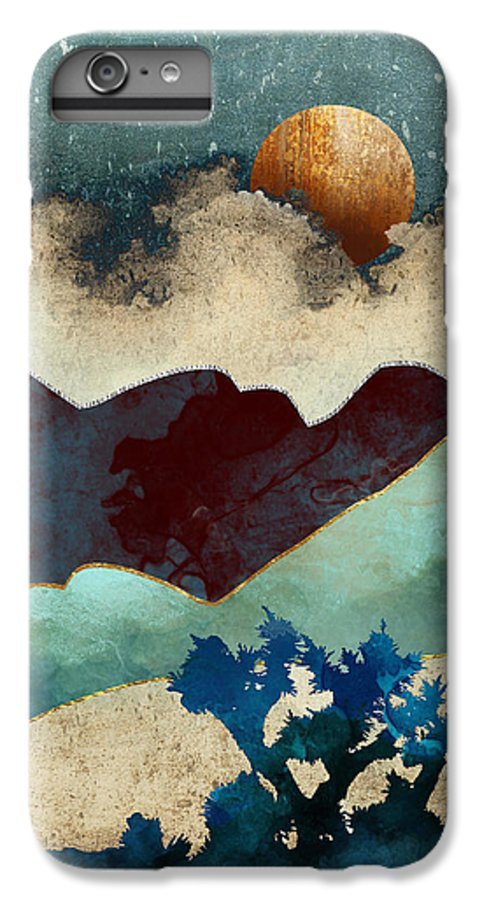 Calm IPhone 8 Plus Case featuring the digital art Evening Calm by Spacefrog Designs