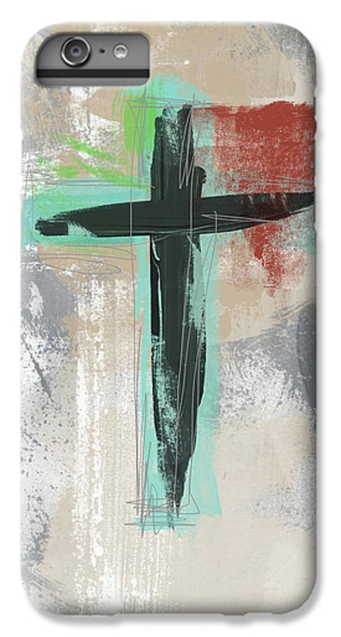 Cross IPhone 8 Plus Case featuring the mixed media Expressionist Cross 3- Art By Linda Woods by Linda Woods