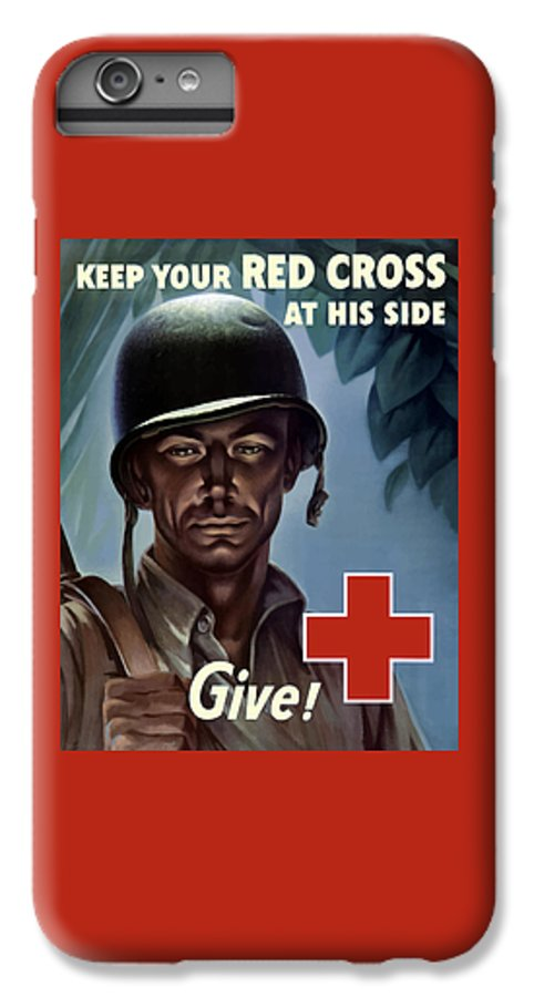 Red Cross IPhone 8 Plus Case featuring the painting Keep Your Red Cross At His Side by War Is Hell Store