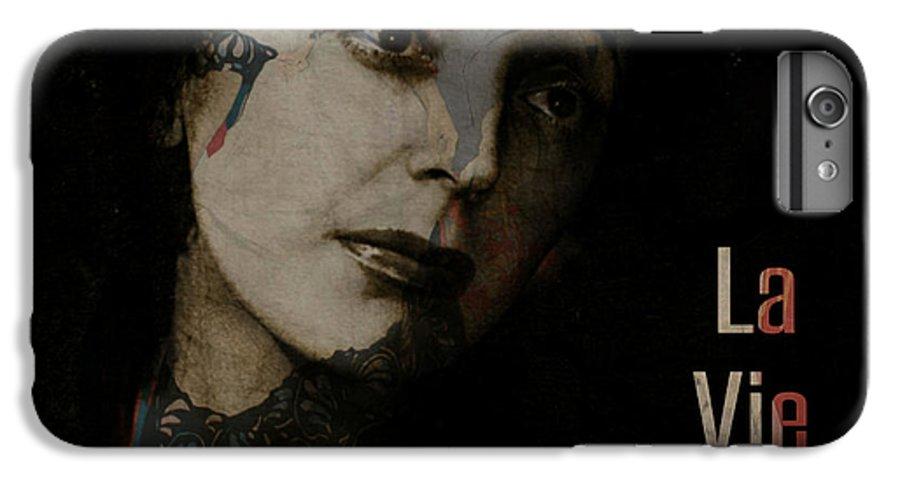 Edith Piaf IPhone 8 Plus Case featuring the digital art Le Vie En Rose by Paul Lovering