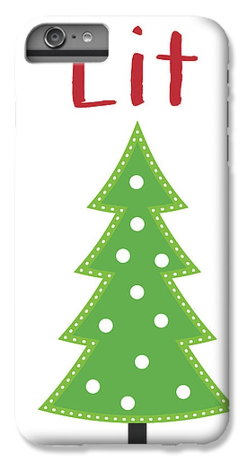 Christmas IPhone 8 Plus Case featuring the digital art Lit Christmas Tree- Art By Linda Woods by Linda Woods