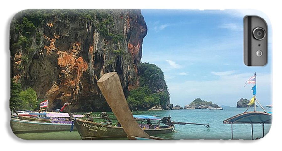 Thailand IPhone 8 Plus Case featuring the photograph Lounging Longboats by Ell Wills