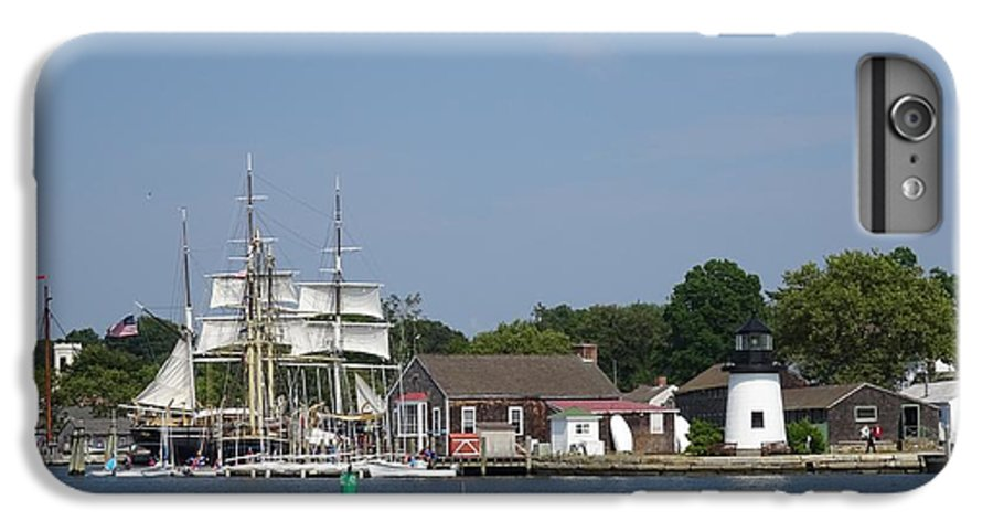 Wooden IPhone 8 Plus Case featuring the photograph Mystic Seaport Lighthouse by Red Cross