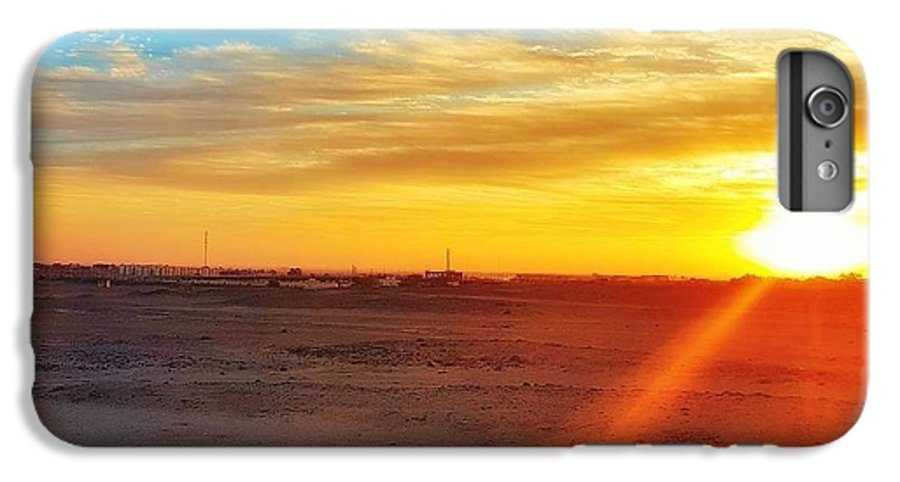 Sunset IPhone 8 Plus Case featuring the photograph Sunset in Egypt by Usman Idrees