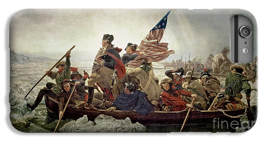 Washington IPhone 8 Plus Case featuring the painting Washington Crossing The Delaware River by Emanuel Gottlieb Leutze