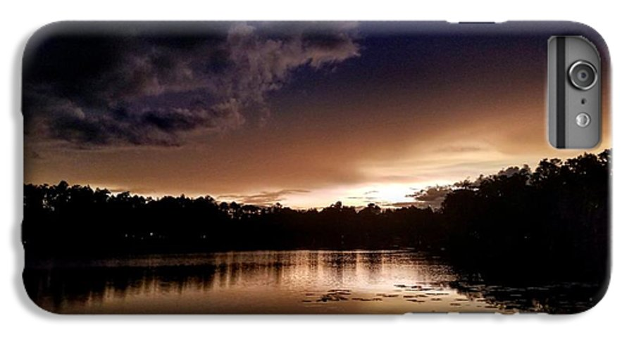 Sunset IPhone 8 Plus Case featuring the photograph Dark Reflections by Shena Sanders