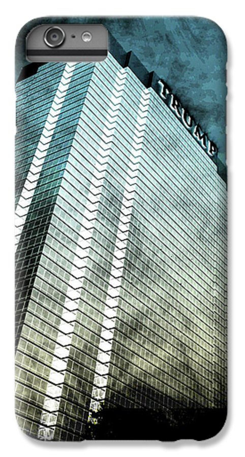 Donald Trump Building IPhone 8 Plus Case featuring the digital art Surrounded By Darkness by Az Jackson