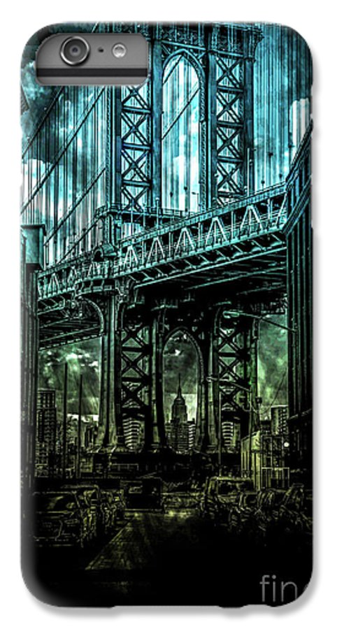 American IPhone 8 Plus Case featuring the digital art Urban Grunge Collection Set - 12 by Az Jackson