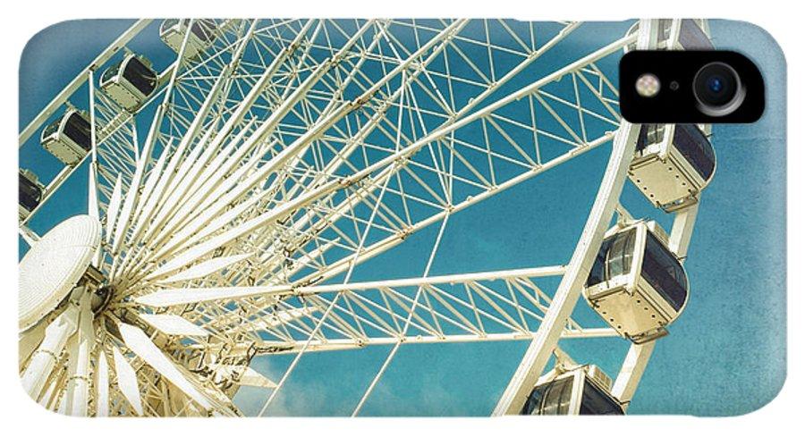 Wheel IPhone XR Case featuring the photograph Ferris Wheel Retro 1 by Jane Rix