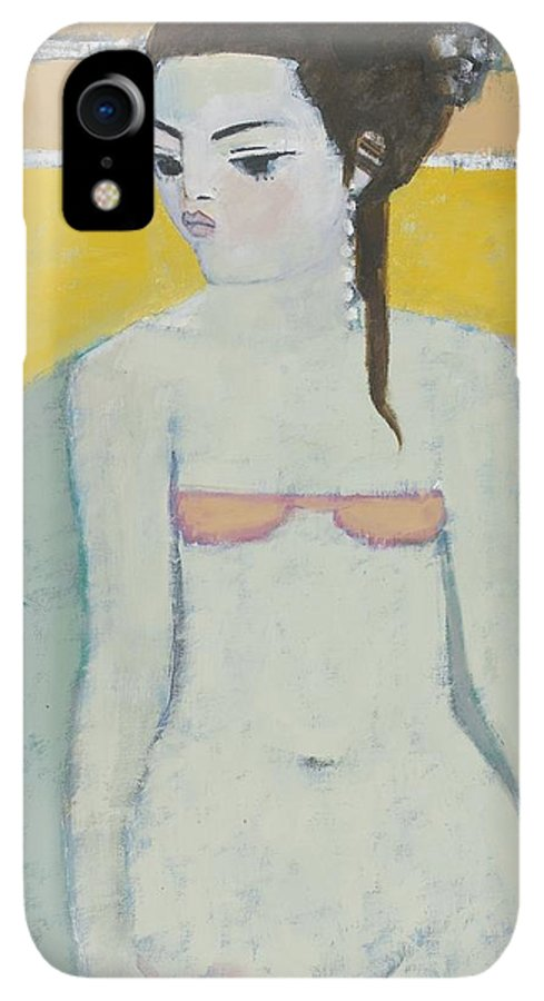 Female IPhone XR Case featuring the photograph Michela Again Oil On Board by Endre Roder