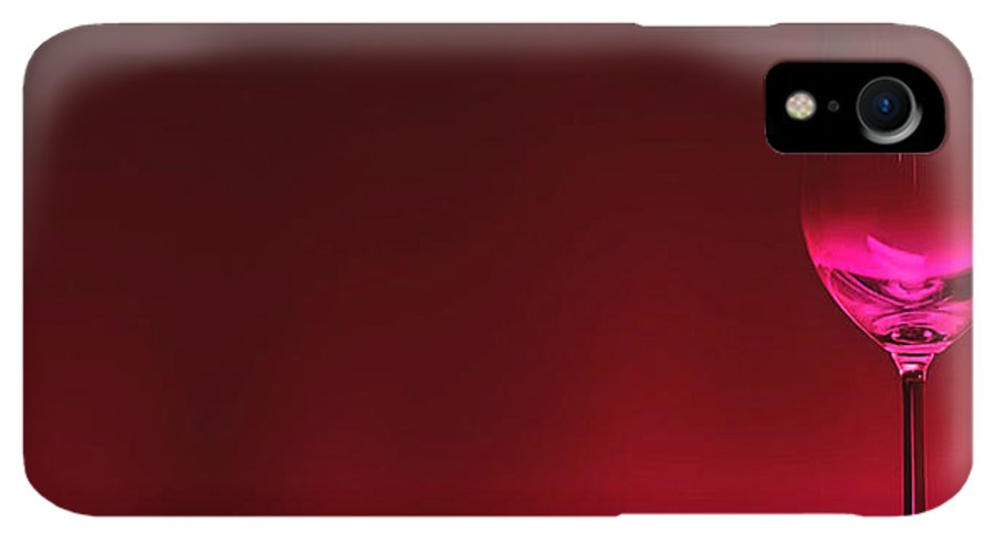 Wine IPhone XR Case featuring the digital art Glass Of Wine by Abhijeet Dhidhatre