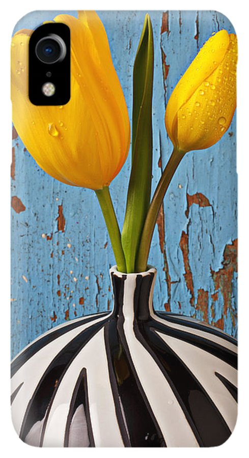 Two Yellow IPhone XR Case featuring the photograph Two Yellow Tulips by Garry Gay