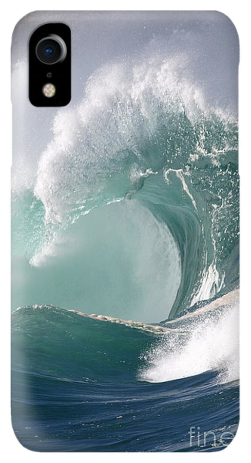 Tide IPhone XR Case featuring the photograph Crashing Wave by Mana Photo