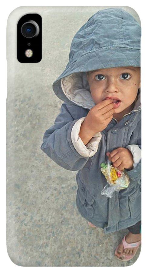 Cute IPhone XR Case featuring the photograph Cute Baby by Imran Khan