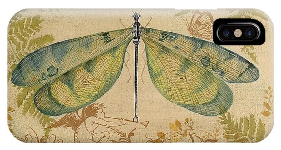 Dragonfly And The Angel 3 Iphone Xs Case