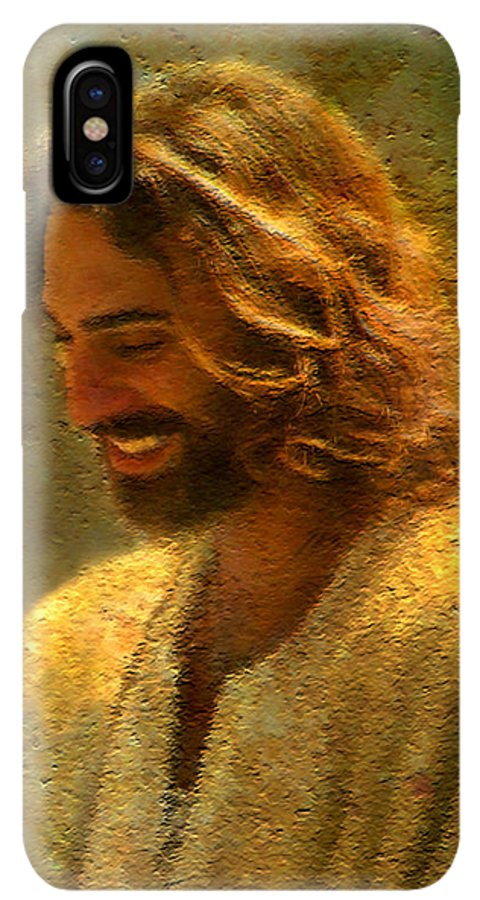 Jesus IPhone XS Max Case featuring the painting Joy Of The Lord by Greg Olsen