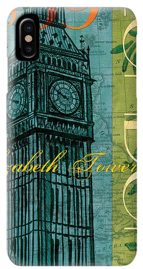 London IPhone XS Max Case featuring the painting London 1859 by Debbie DeWitt