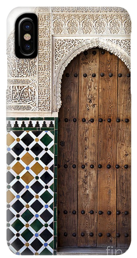 Alhambra IPhone XS Max Case featuring the photograph Alhambra Door Detail by Jane Rix
