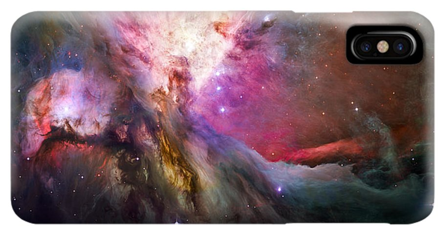 3scape IPhone XS Max Case featuring the photograph Hubble's Sharpest View Of The Orion Nebula by Adam Romanowicz