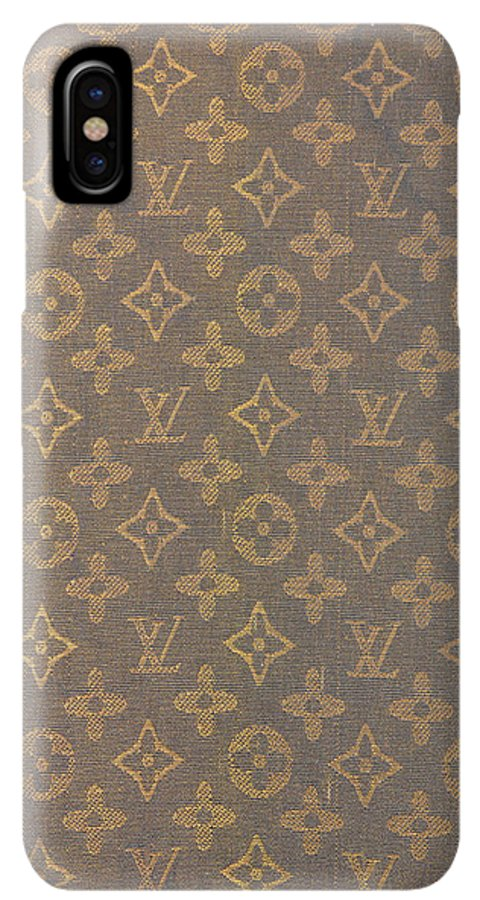 cf4a3fbfdd9ba3 Louis Vuitton IPhone XS Max Case featuring the photograph Louis Vuitton  Fabric Pattern Monograms by To