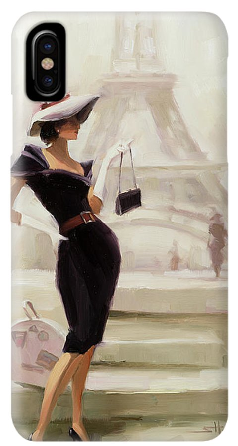Paris IPhone XS Max Case featuring the painting Love, From Paris by Steve Henderson