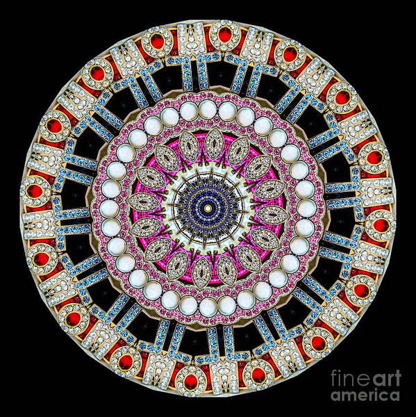 Abstract Poster featuring the photograph Kaleidoscope Colorful Jeweled Rhinestones by Amy Cicconi