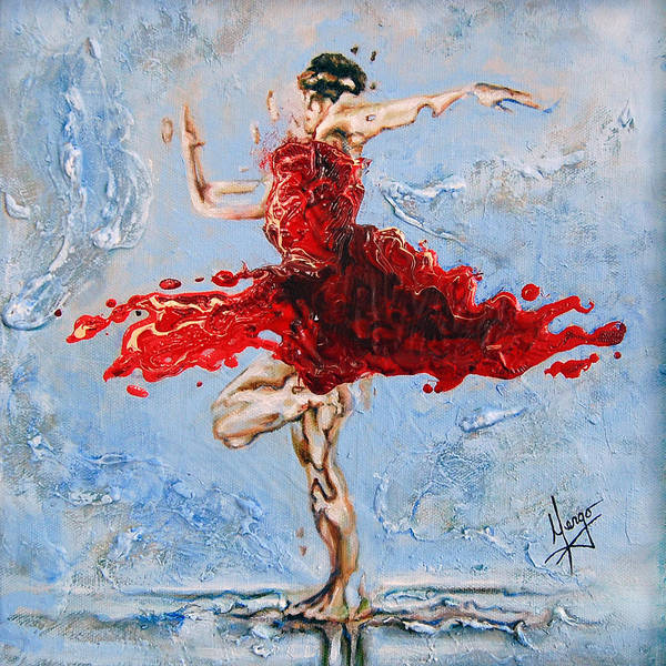 Ballet Poster featuring the painting Balance by Karina Llergo