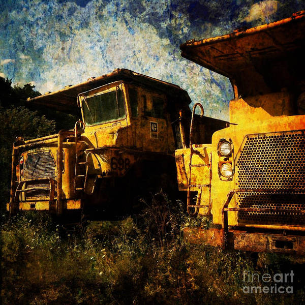 Artwork Poster featuring the digital art Dump Trucks by Amy Cicconi