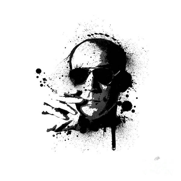 Hunter S. Thompson Poster featuring the painting Hunter S. Thompson by Laurence Adamson