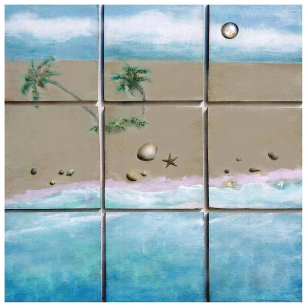 Beaches Poster featuring the mixed media Beaches Cubed by Mary Ann Leitch