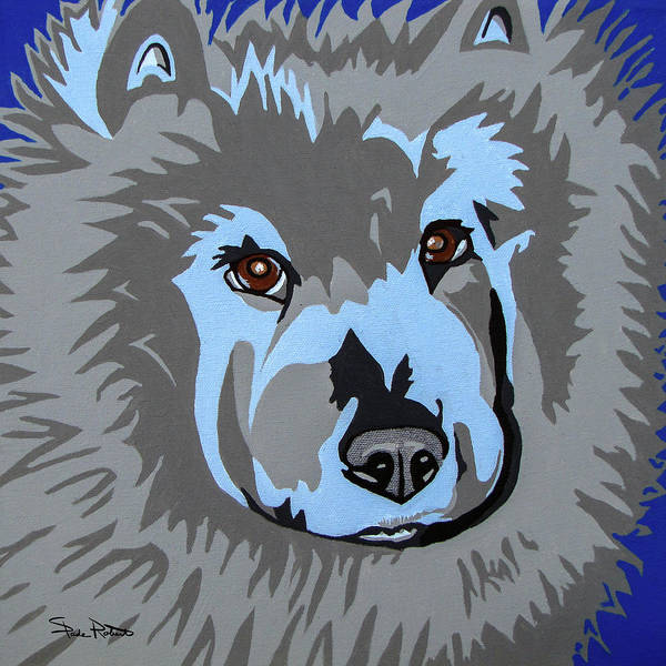 Chow Poster featuring the painting Chow Chow by Slade Roberts
