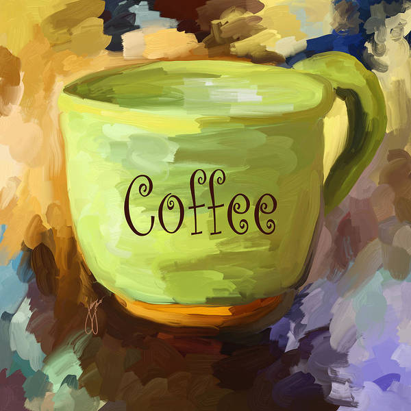 Coffee Poster featuring the painting Coffee Cup by Jai Johnson