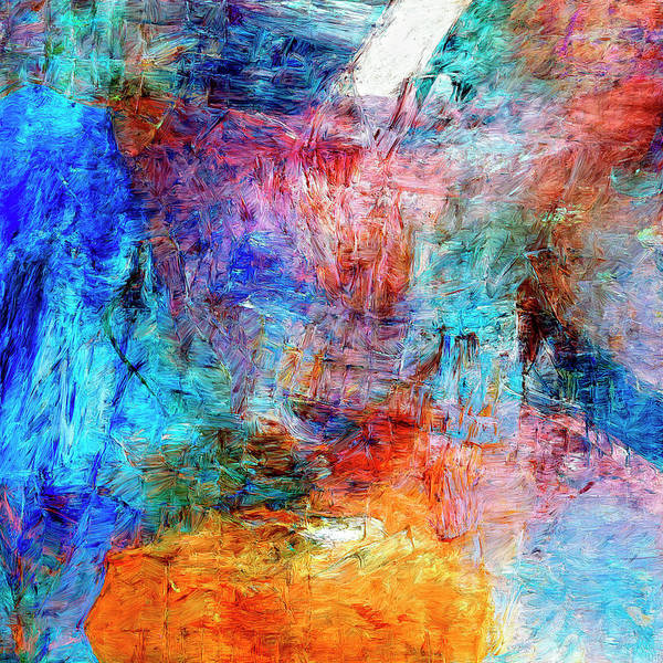 Abstract Poster featuring the painting Convergence by Dominic Piperata