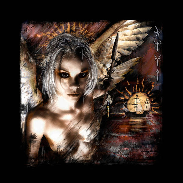 Angel Poster featuring the painting Dreamseeker by Mandem