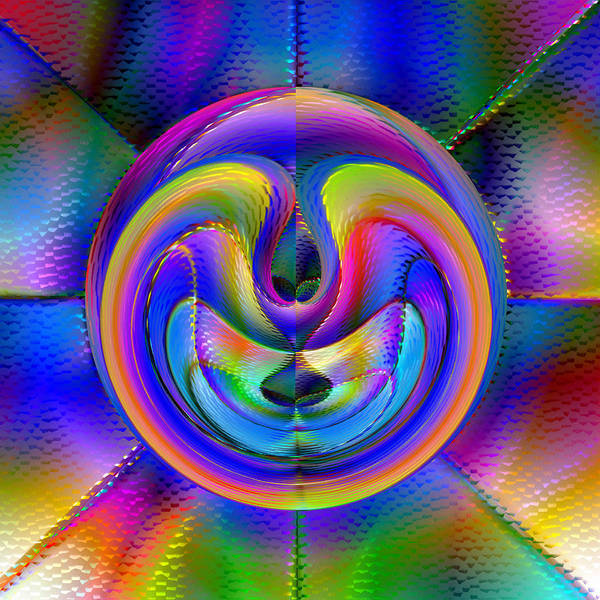 Abstract Poster featuring the digital art Embrio by Carl Perry
