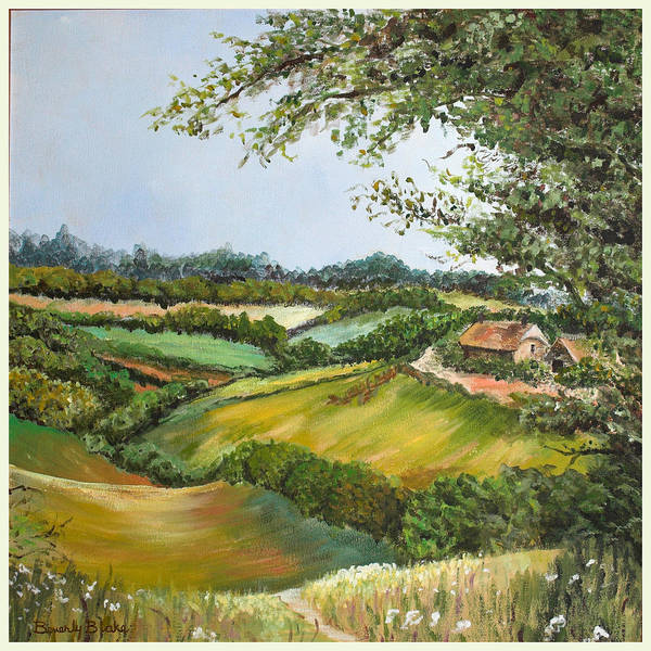 Landscape Poster featuring the painting English Countryside by Blake Originals - Marjorie and Beverly