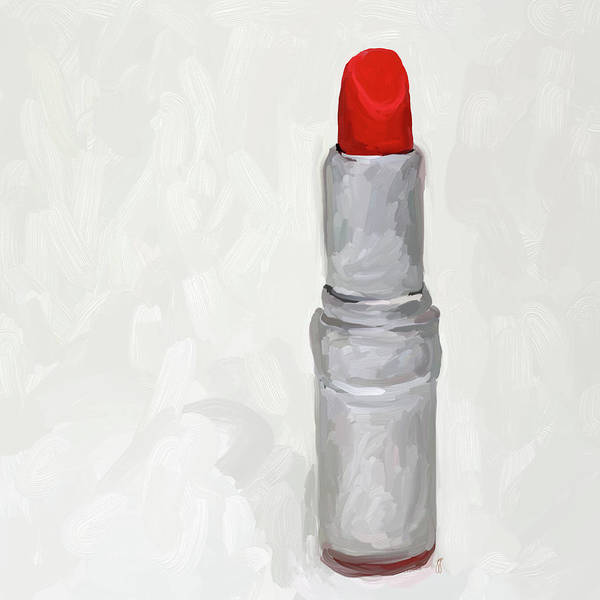 Lipstick Poster featuring the painting Lipstick I by Jai Johnson