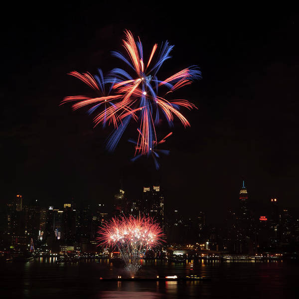 4th Of July Poster featuring the photograph Macy's Fireworks II by David Hahn