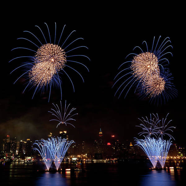 4th Of July Poster featuring the photograph Macy's Fireworks IIi by David Hahn