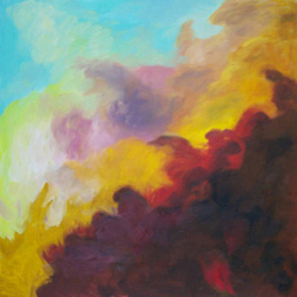 Abstract Poster featuring the print Space Cloud by Anne Trotter Hodge