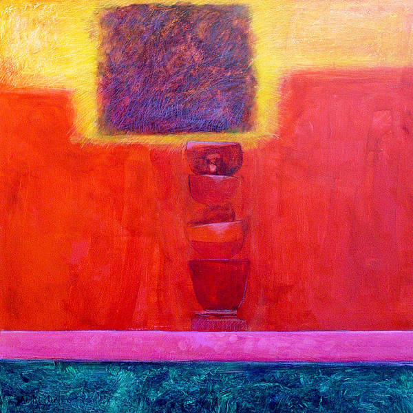 Abstract Poster featuring the painting Stacked Cups by Dale Witherow