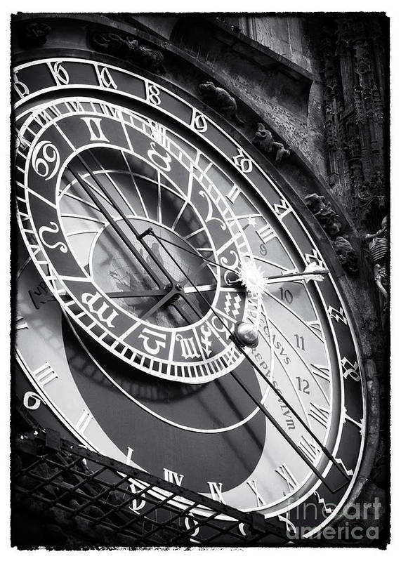 Prague Astronomical Clock Poster featuring the photograph Historic Time by John Rizzuto