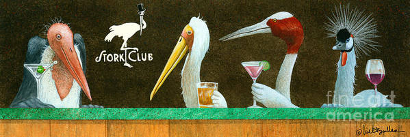 Will Bullas Poster featuring the painting The Stork Club... by Will Bullas