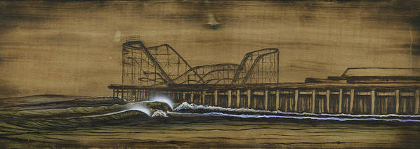 Casino Pier Poster featuring the mixed media Casino Pier Tribute by Ronnie Jackson