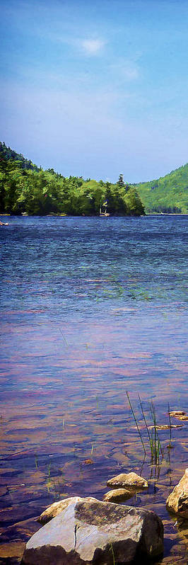 Tryptych Poster featuring the photograph Jordan Pond Tryptych Left by Gregg Litchfield