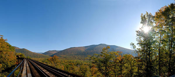 Conway Scenic Railroad Poster featuring the photograph Conway Scenic Railroad - Short by Geoffrey Bolte