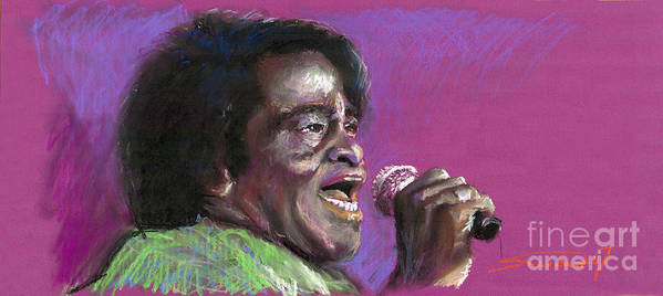 Jazz Poster featuring the painting Jazz. James Brown. by Yuriy Shevchuk