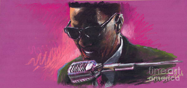 Jazz Poster featuring the painting Jazz. Ray Charles.1. by Yuriy Shevchuk
