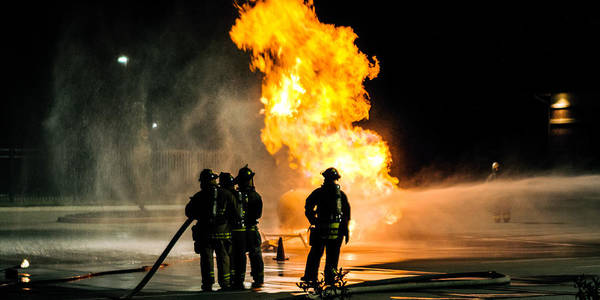Extinguish Poster featuring the photograph Emergency Responders by Sennie Pierson