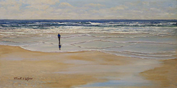 Beach Walk Poster featuring the painting Incoming Tide by Frank Wilson